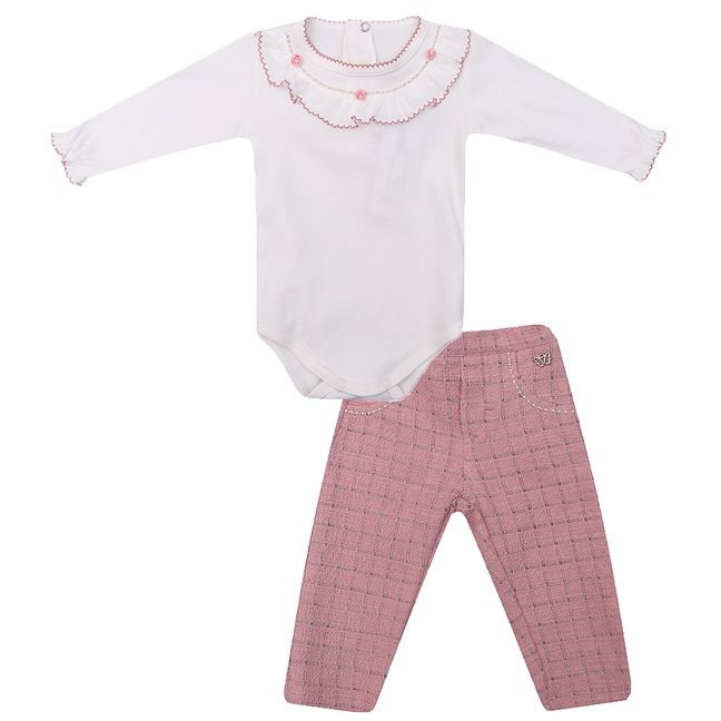 Conjunto-Bebe-Body-e-Calca-Tweed-Chic-ROSA-MEDIO